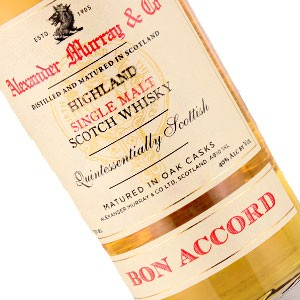 Alexander murray co bon accord highland single malt scotch for Accord asian cuisine menu