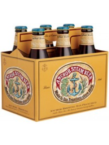 Anchor Steam Beer cold sixpack bottles
