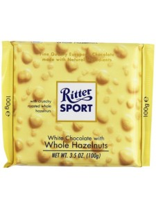 Ritter Sport White Chocolate with Whole Hazelnuts