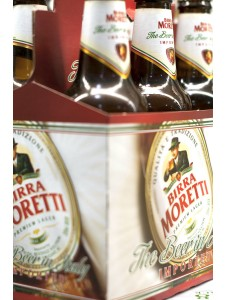 Birra Moretti Cold six pack bottles