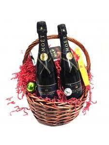 Moet Champagne Gift Basket