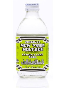 New York Seltzer 10 oz bottle, three flavors in the cooler