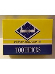 Diamond 250 Square/Round Tip Toothpicks