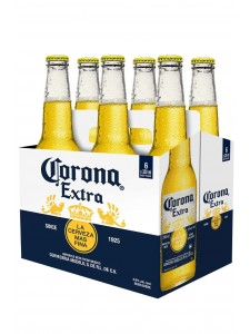 Corona Extra 6-pack long neck cold bottles beverly hills