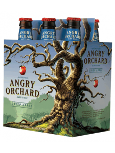 Angry Orchard Hard Cider Crisp Apple chilled six-pack bottles