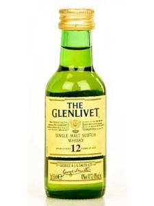 The Glenlivet 12 year old Single Malt Scotch 50 MLZoom