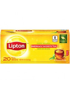 Lipton 100% Natural 20 Tea Bags