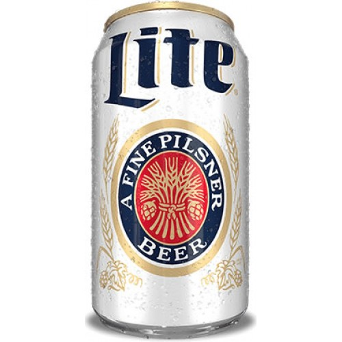 miller lite six pack chilled cans